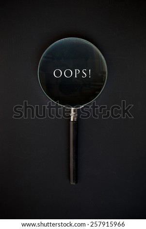 Oops word - stock photo