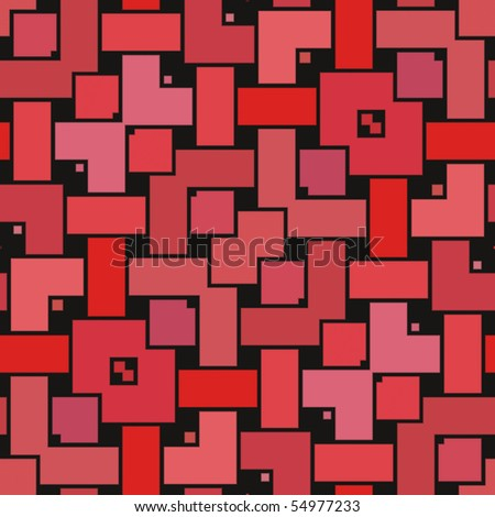 Op Art Interlocked Rectangles Red Magenta and Violet Seamless