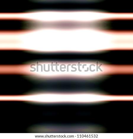 Op Art Seamless Lightning Bars Texture Orange Black and White - stock photo