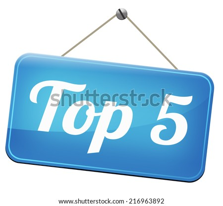 op 5 charts list pop poll  result and award winners chart ranking music hits best top five quality rating prize winner    - stock photo