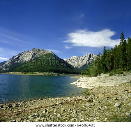 Opal Hills Jasper National park, Canada, UNESCO - stock photo