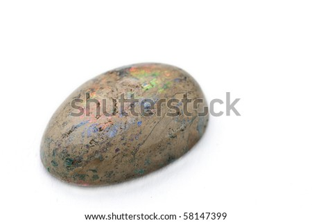 Opal Jewel isolated against a white background - stock photo