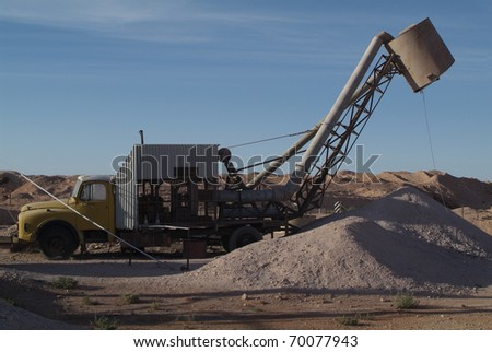 Opal Mine Equipment in Coober Pedy