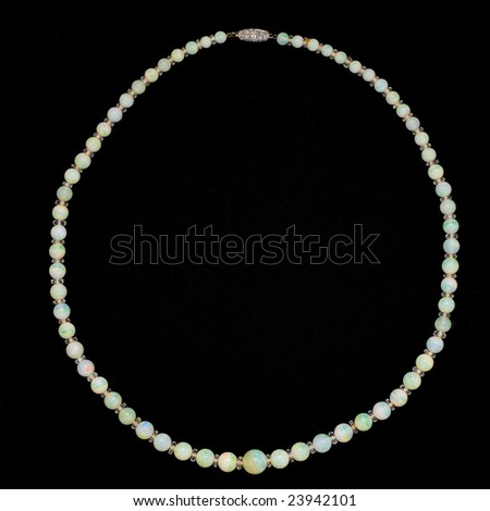 Opal Necklace - stock photo