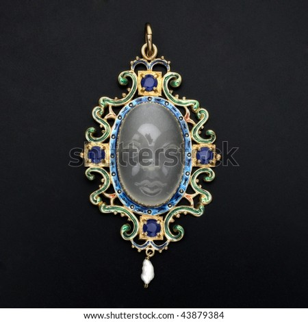 opal pendant - stock photo