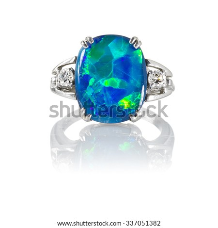 Opal RIng - stock photo