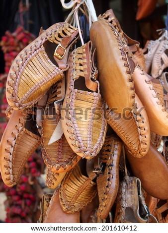 Opanak, Opinok, Opanci , Opinci - Traditional sandals - stock photo