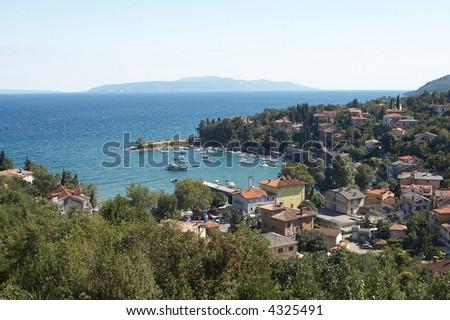 Opatija bay in Croatia - stock photo