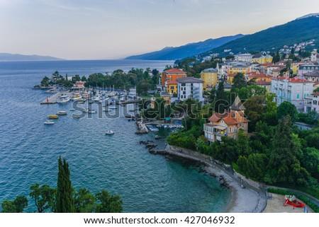 Opatija Harbour , Croatia - stock photo