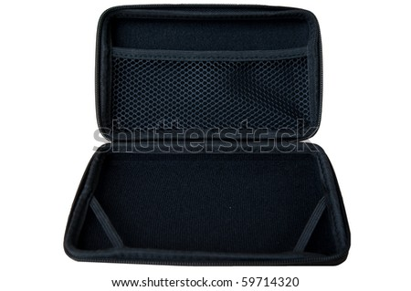 Open a bag on white background - stock photo