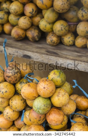 Open air fruit market in the village in Bali, Indonesia. - stock photo