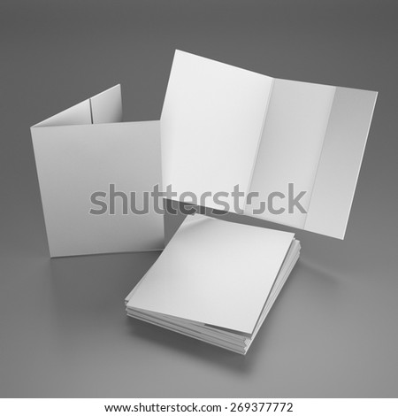 open and closed folders - stock photo