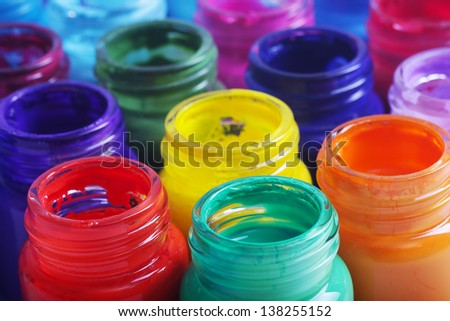 Open banks of a paint - stock photo