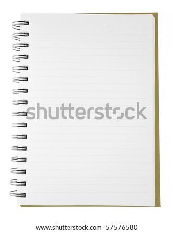 open blank notebook - stock photo