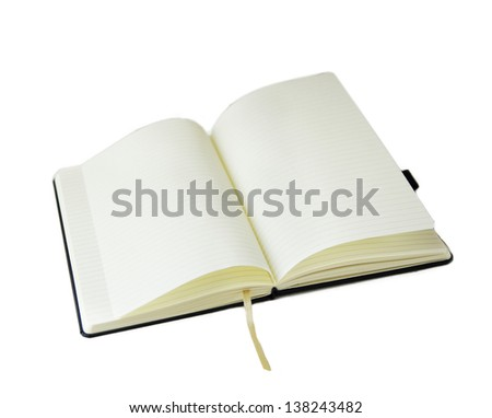 open blank notes isolated - stock photo