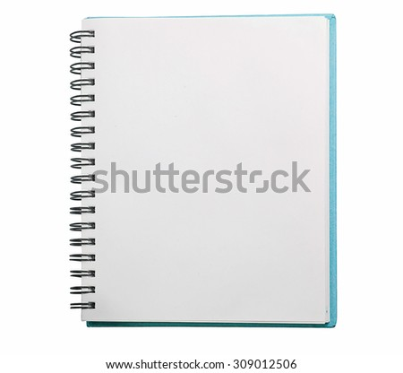 Open Blank Page notebook with clipping path - stock photo
