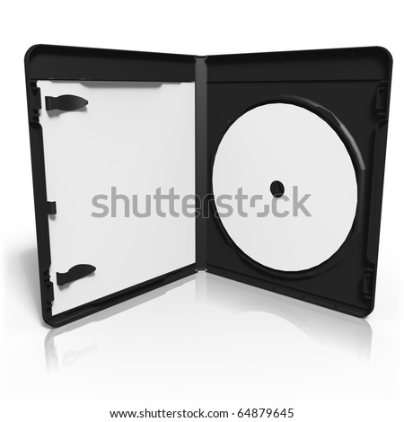 Open bluray box with disc - stock photo