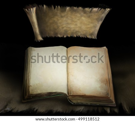 open book background old ancient