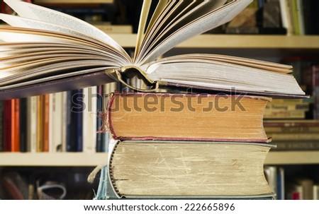 open book, close up, selective focus  - stock photo