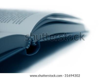 Open Book closeup, shallow DOF - stock photo