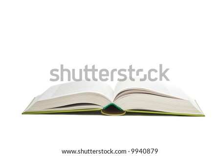 Open book isolated on a white
