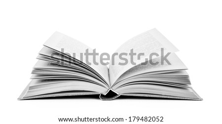 Open book, isolated on white