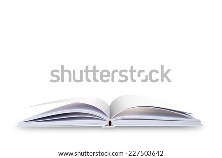Open book, isolated on white background