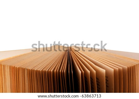 Open Book Isolated on White -  clipping path included - stock photo