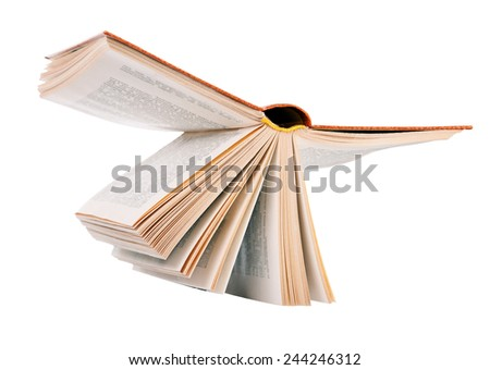 Open book. isolation - stock photo