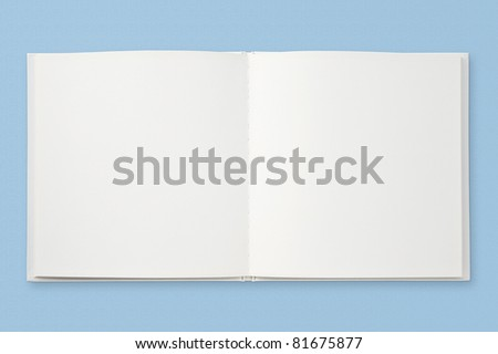Open book of blank pages - stock photo