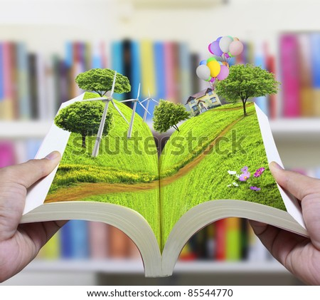 open book of nature - stock photo