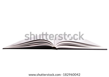 Open book or magazine,isolated on white background.