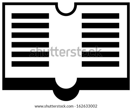 Open book symbol (raster version) - stock photo