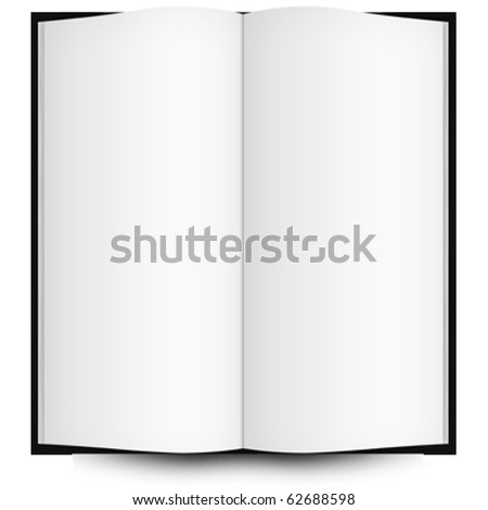 open book with blank pages, abstract art illustration; for vector format please visit my gallery - stock photo
