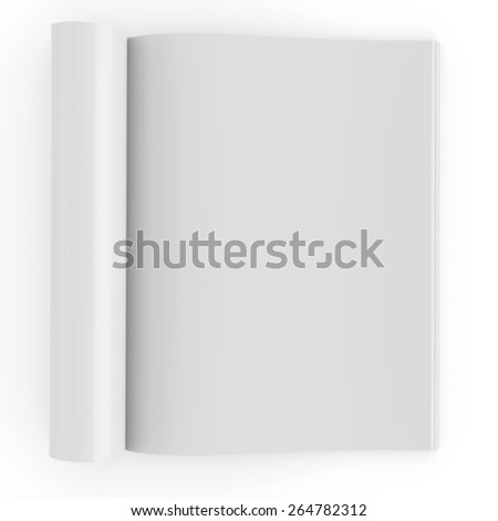 Open book with blank pages. 3d rendering - stock photo