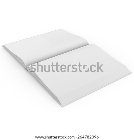 Open book with blank pages. 3d rendering