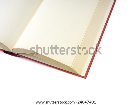 Open book with blank pages isolated on white. - stock photo