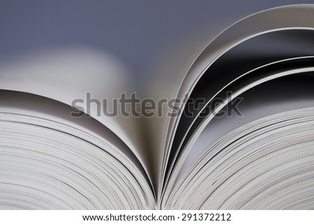 Open book with dark background - stock photo