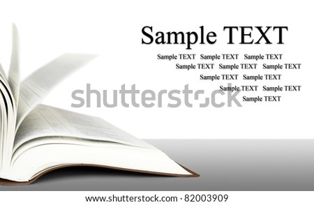 Open book with space for text - stock photo
