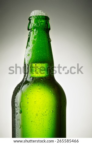 open bottle of beer - stock photo