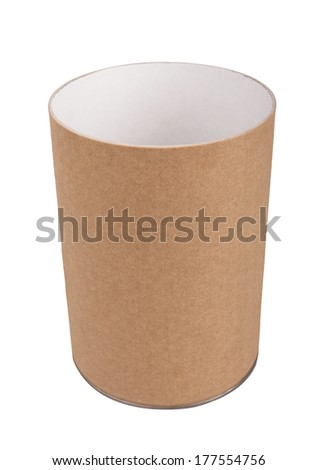 Open Brown tincan, isolated on white background