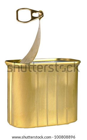 Open Can - stock photo