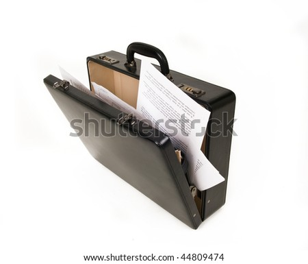 open case with documents - stock photo