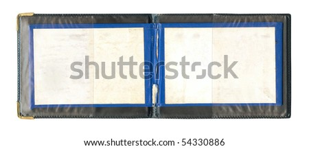 Open certificate isolated over white - stock photo
