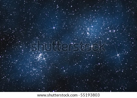 open cluster in Perseus - stock photo