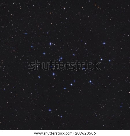 Open Cluster M39 in the Constellation Cygnus - stock photo