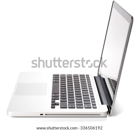 Open Computer Laptop - Isolated