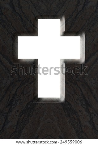 Open cross - stock photo