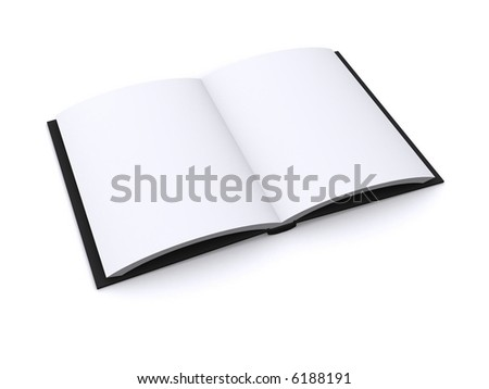 open 3d book - stock photo