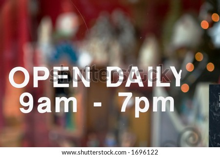 open daily - stock photo
